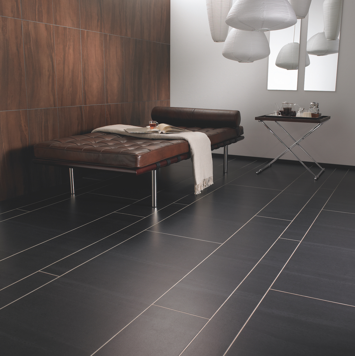 Amtico Signature_Graphite Slate in Random Stone Laying Pattern